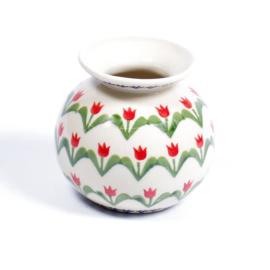 Vaasje small  - tulp rood