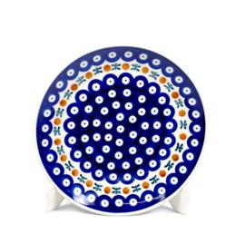 Dinerbord - blauw oogje met strik