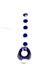Lepeltje - stip dubbel blauw