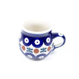 Bolmokje voor espresso - blauw oogje met strik