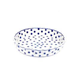 Quiche schaal 23cm - stip blauw
