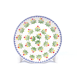 Ontbijtbord - tulp gemengd geel-oranje-rood