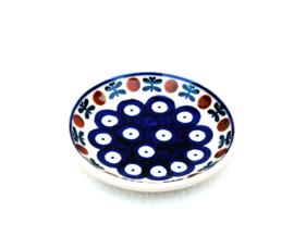 Bordje 10cm - blauw oogje met strik