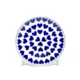 Ontbijtbord - hartje groot blauw