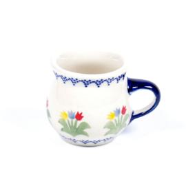 Bolmokje voor espresso - tulp gemengd blauw-geel-rood