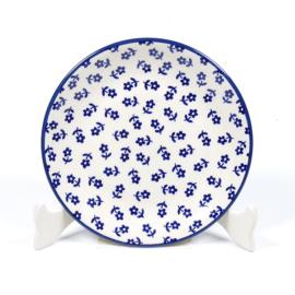 Gebakbordje unikat - blauw bloemetje