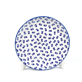 Ontbijtbord unikat - blauw bloemetje