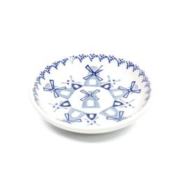 Bordje 10cm - molen blauw