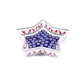 Ovenschaal stervorm medium - roodborstje