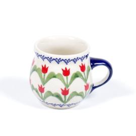 Bolmokje voor espresso - tulp rood