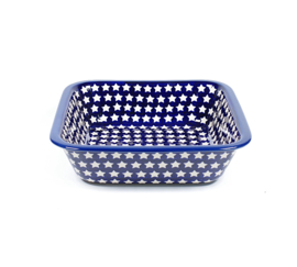 Ovenschaal diep vierkant - ster wit