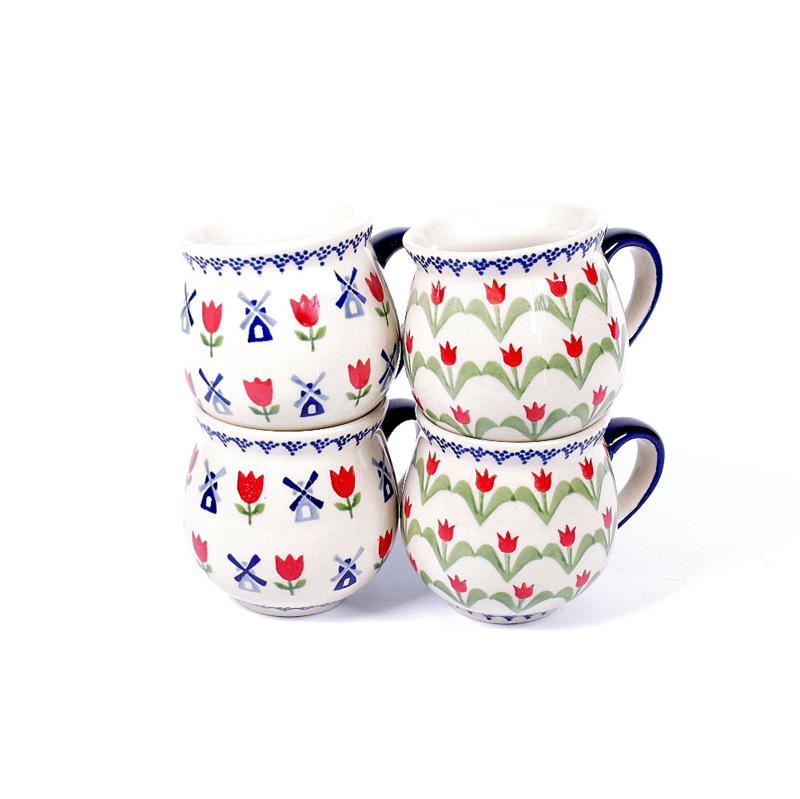 Bolmokje small molens en tulpen set van 2x2