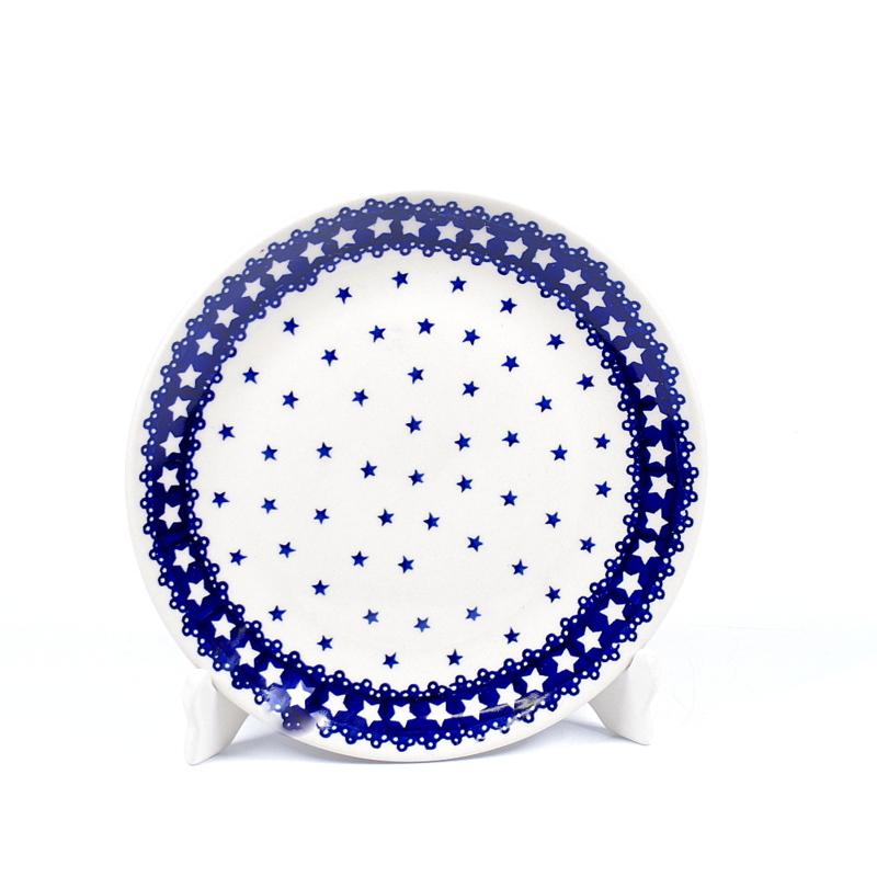 Ontbijtbord - ster blauw