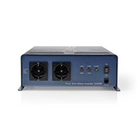 PIPS200024 - Stroomomvormer Zuivere Sinusgolf | 24 V DC - 230 V AC | 2000 W | 2x Schuko-Uitgang