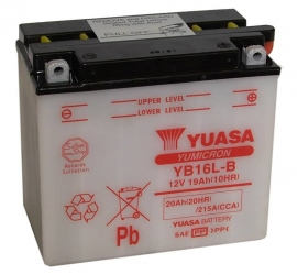 Yuasa Yumicron motor accu 12V 19Ah YB16L-B