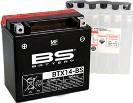 BS BTX14-BS Onderhoudsvrije AGM motor accu 12V 12Ah