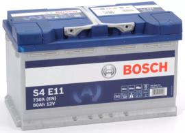 Bosch S4 E11 EFB start-stop auto accu 12V 80Ah