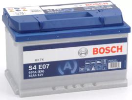 Bosch S4 E07 EFB start-stop auto accu 12V 65Ah