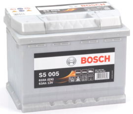 BOSCH S5 005 12V 63Ah auto accu