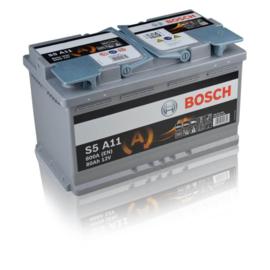 Bosch S5 A11 AGM auto accu 12V 80Ah