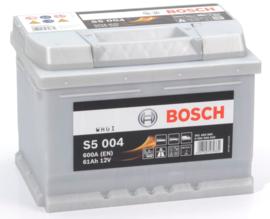 BOSCH S5 004 12V 61Ah auto accu