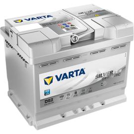 VARTA D52 Silver Dynamic AGM accu 12V 60Ah