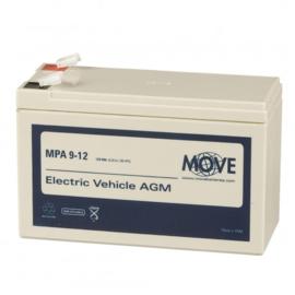 MOVE MPA 9-12 12V 9Ah AGM accu
