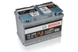 Bosch S5 A08 AGM auto accu 12V 70Ah