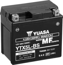 Yuasa YTX5L-BS Motor Accu 12V 4Ah