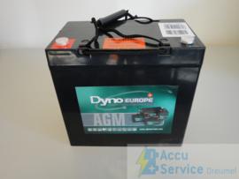 Dyno Europe DAB12-55EV 12V 60,7Ah AGM Accu
