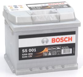 BOSCH S5 001 12V 52Ah auto accu