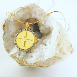 Gold coin initial ketting