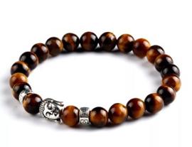Buddha tijgeroog kralenarmband