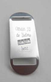 Los gegraveerd plaatje voor sleutelhanger of armband