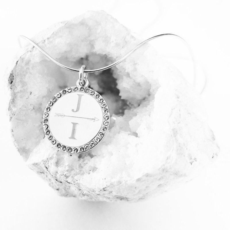 coin initial ketting