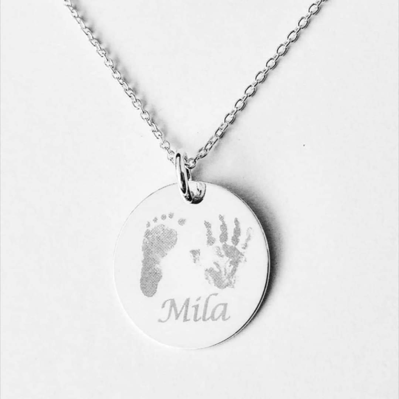 Family coin necklace