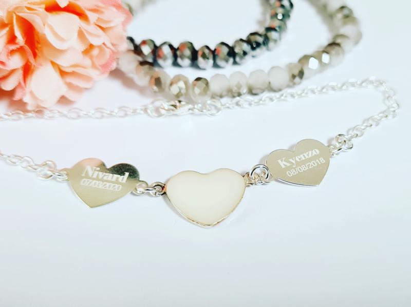Double Hearts dna armband