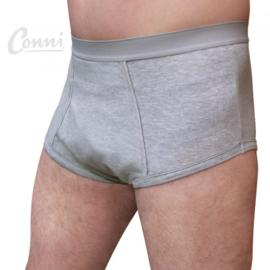 Incontinentiebroekje voor mannen, waterdichte onderbroek, Conni Oscar Grijs