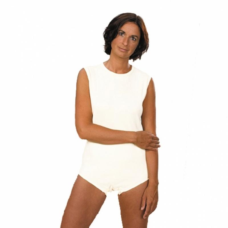 Body voor volwassenen met drukknopsluiting, luierpakje, smeerpak - Wit