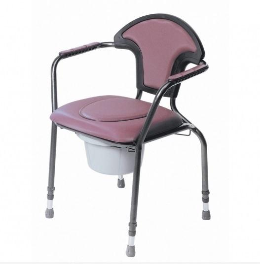 Toiletstoel in hoogte verstelbaar, Terracota - PR50546