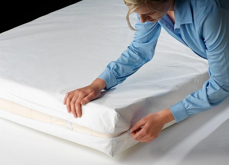 Waterdichte matrasbeschermer met rits voor het hele matras, 90 x 200 x 15 cm