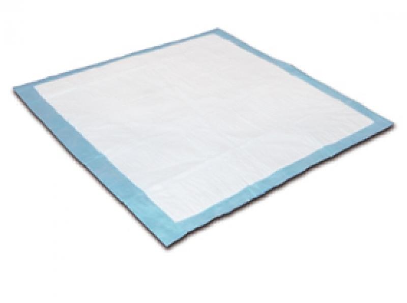Wegwerp onderlegger Absorin van 60 x 60 cm met absorptie van 1250 ml