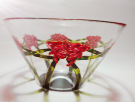 Glas Grote schaal Rozen