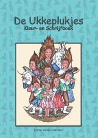 Boek Kleur- en schrijfboek De Ukkeplukjes