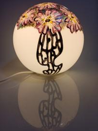 Lamp 56 Paarse bloemen