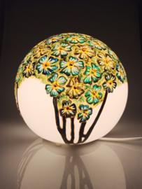 Lamp 95 groen/blauwe bloemen