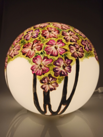 Lamp 96 paarse bloemen