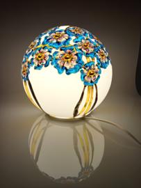Lamp 65 Blauwe bloemen