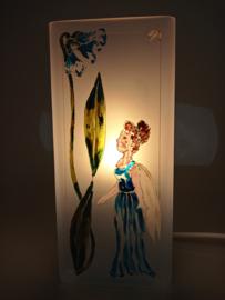 Bloklamp blauw elfje