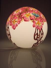 Lamp 55 roze bloemen en vlinders
